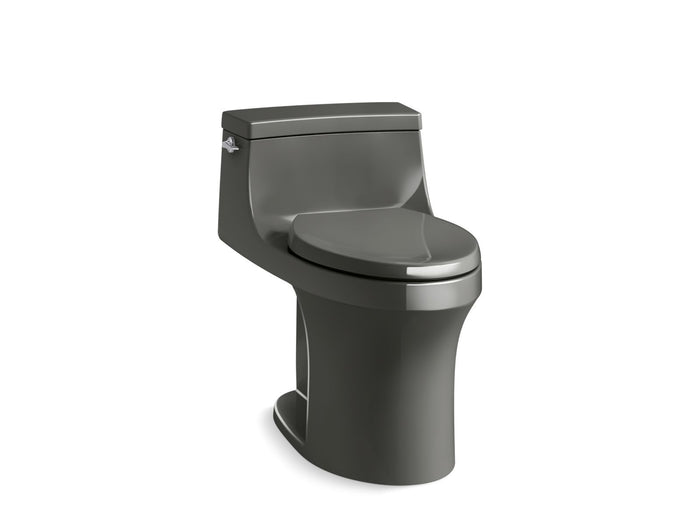 San Souci Comfort Height One-Piece Elongated-Front 1.28 GPF Toilet with AquaPiston Left Hand Lever