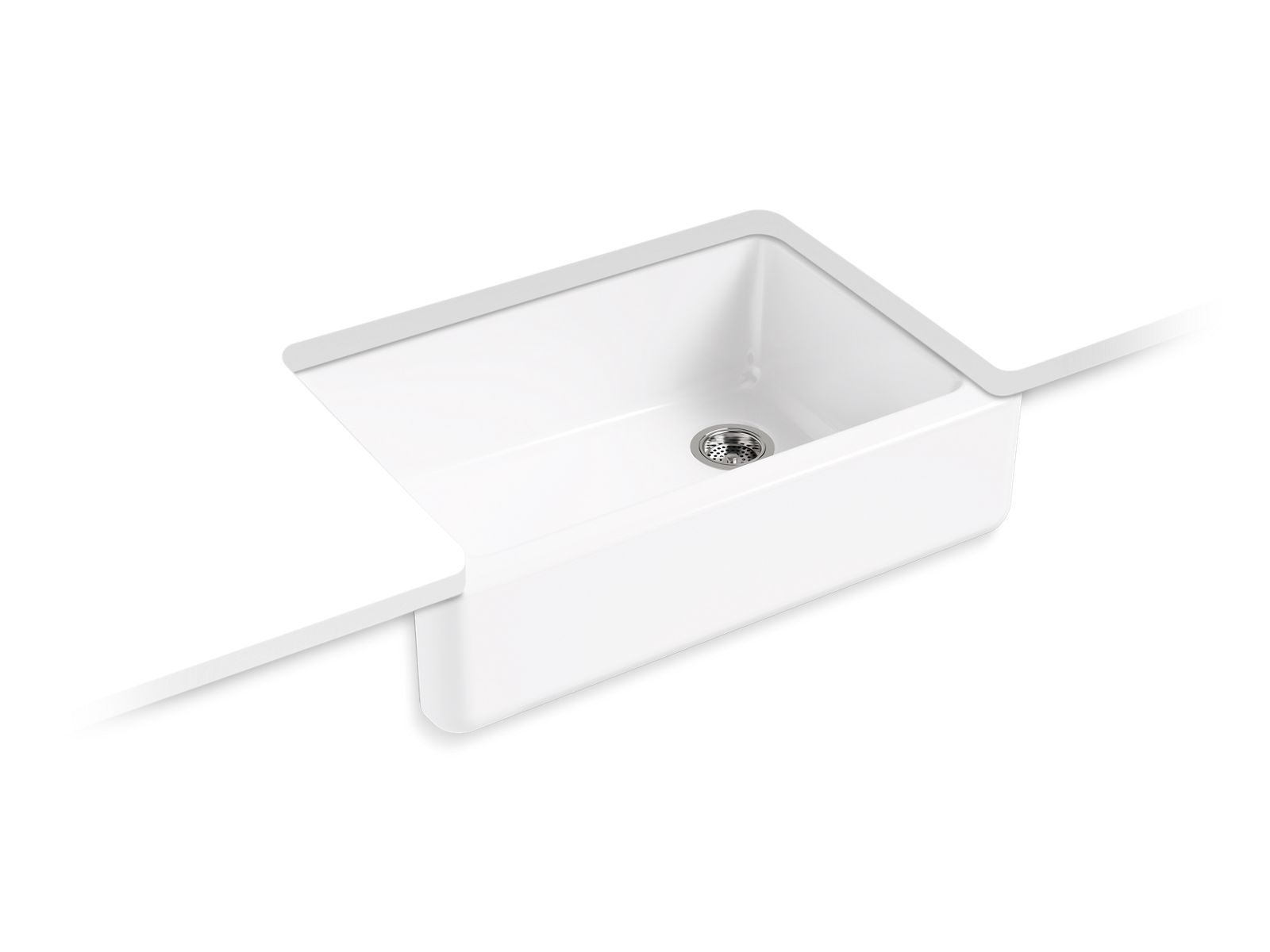 "Whitehaven Self-Trimming 33"" Under-Mount Single-Bowl Sink with Tall Apron"