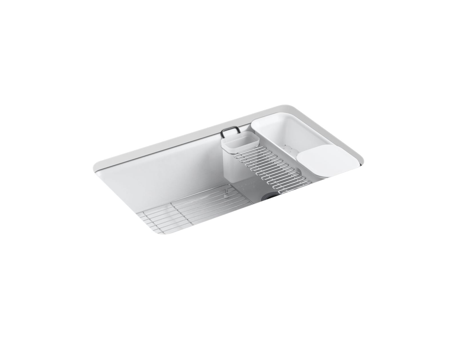 "Riverby 33"" x 22"" x 9-5/8"" Under-Mount Single-Bowl Kitchen Sink with Accessories"