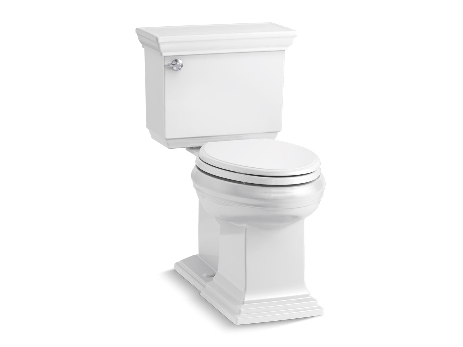 Memoirs Stately Comfort Height Two-Piece Elongated 1.28 GPF Toilet AquaPiston Flushing Technology and Left-Hand Trip Lever and Concealed Trapway