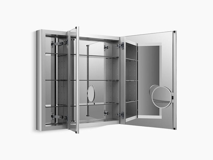 Verdera Aluminum Medicine Cabinet with Adjustable flip-Out Flat Mirror