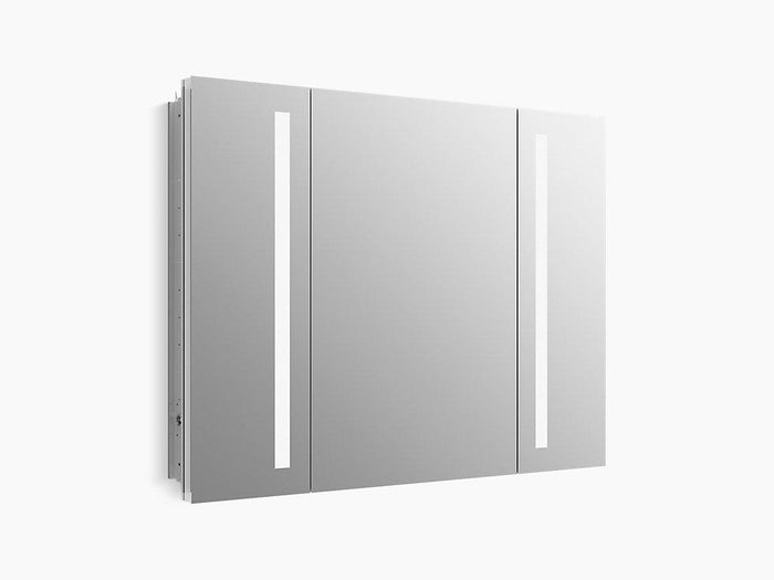 Verdera 40 inch x 30 inch LED Lighted Bathroom Medicine Cabinet, Slow Close Hinge, Internal Magnifying Mirror