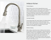 "Artifacts Single-Hole Kitchen Sink Faucet with 16"" Pull-Down Spout and Turned Lever Handle"
