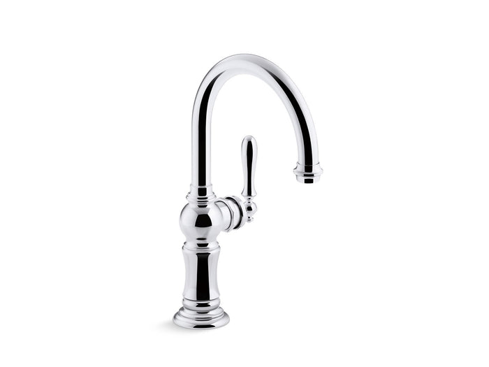 "Artifacts Single-Handle Bar Sink Faucet with 13-1/16"" Swing Spout"