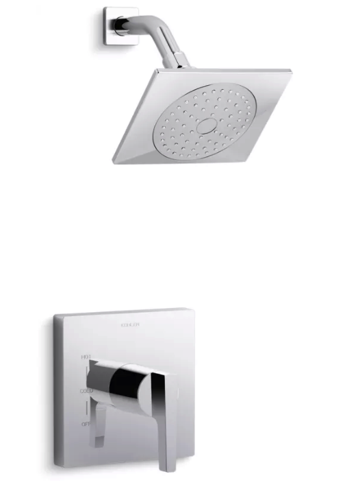 Honesty Rite-Temp Shower Valve Trim with Lever Handle and 2.0 gpm showerhead
