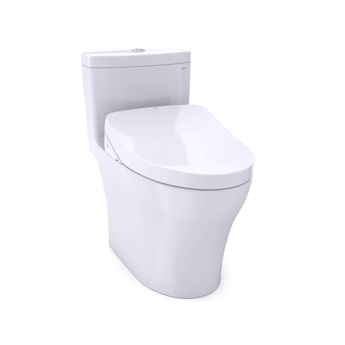 WASHLET+ Aquia IV One-Piece Elongated Dual Flush 1.28 and 0.8 GPF Toilet with S550e Electric Bidet Seat, White-MW6463056CEMFG