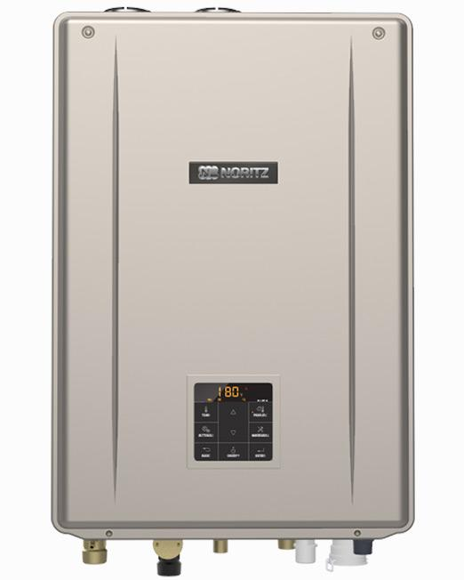 Indoor Direct Vent Combination Boiler Tankless Water Heater (Standard Vent Convertible) with Built-In Pump, max 180,000 Btuh DHW, 9.8 Gpm, 100,000 Btuh Space Heating