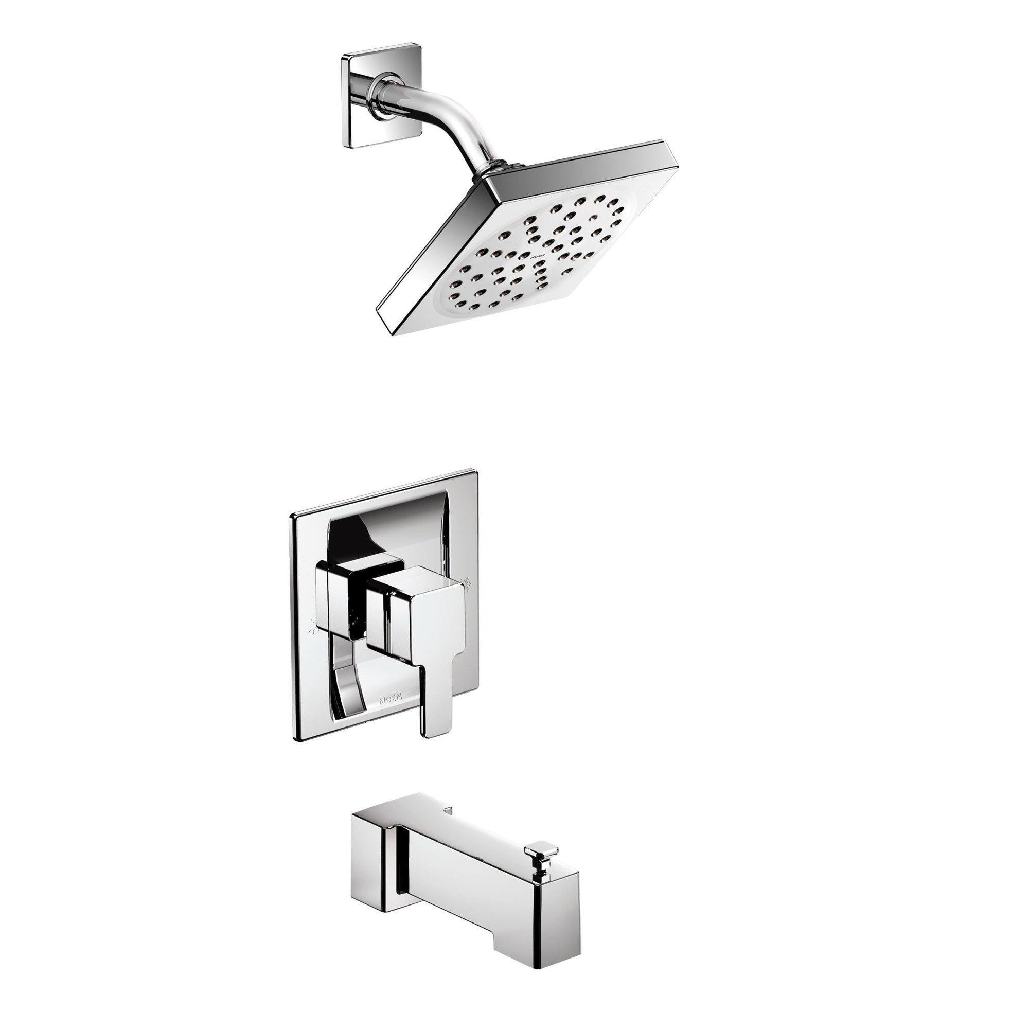 90 Degree Moentrol® Shower with Tub Spout