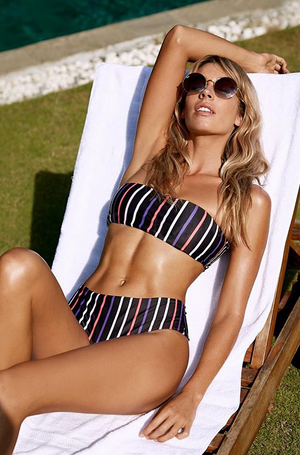 Retro Striped Bikini Set