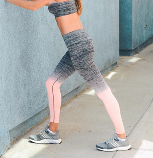 Pink/Peach Ombre Sports / Yoga Leggings