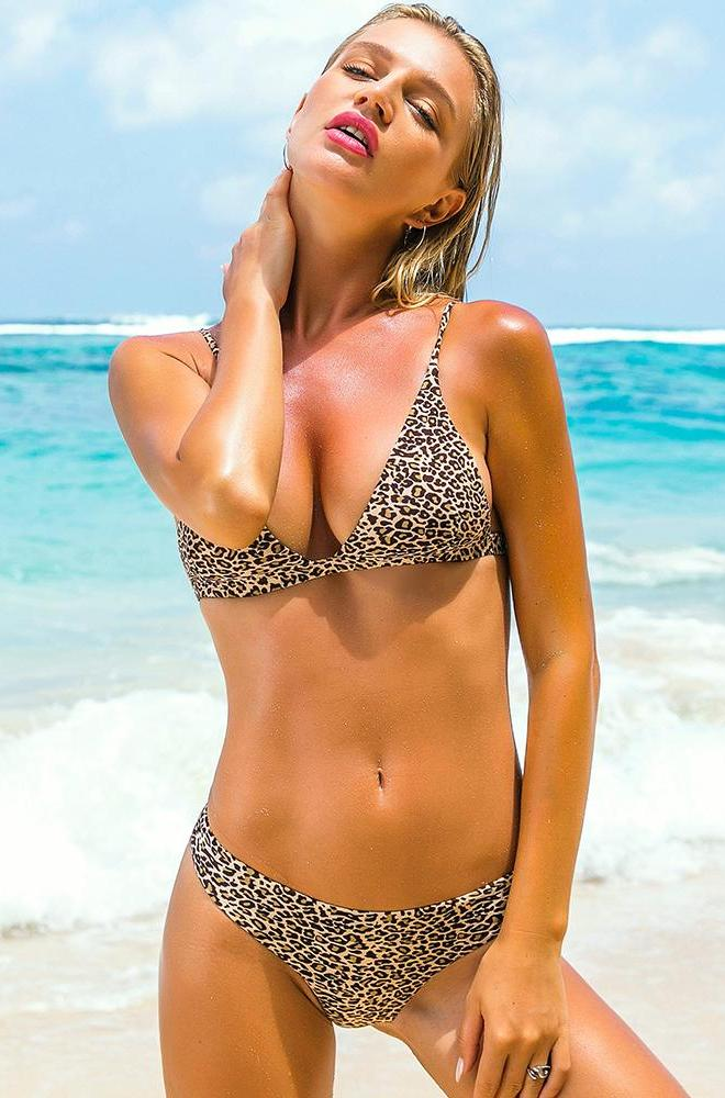 Leopard Push Up Brazilian Bikini