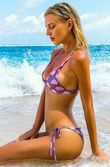 Purple Rose Bikini