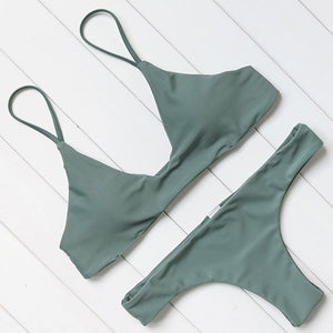 Low Cut Basic Bralette Bikini