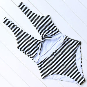 Striped One Piece - Black
