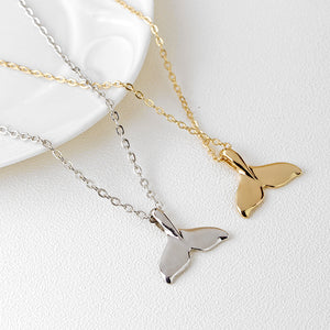 Whale Tail Pendant Necklace