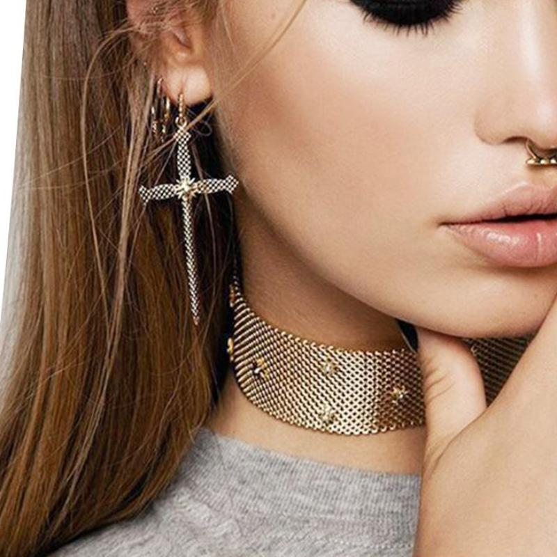 Boho Cross Earrings