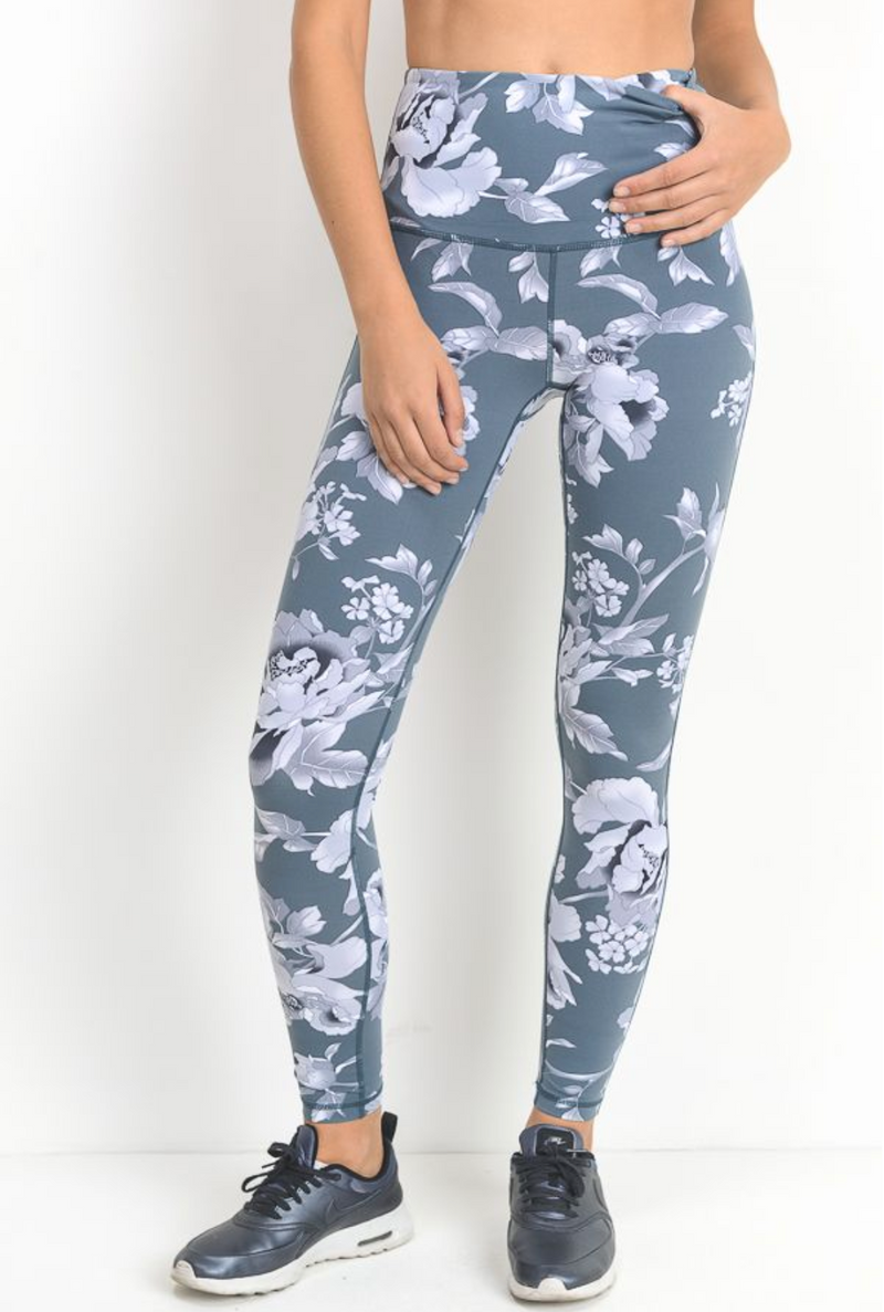 Flirty Floral High-Waist Leggings
