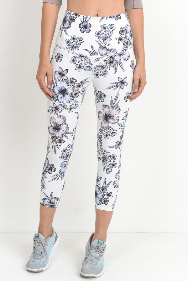 Floral Fever Hibiscus Yoga Pants