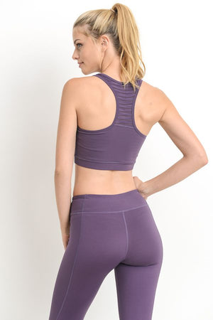 Burnout Active Bra - Dark Violet