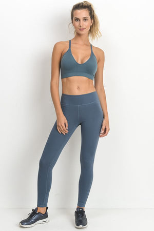 High Vibe Active Bra - Light Teal Blue
