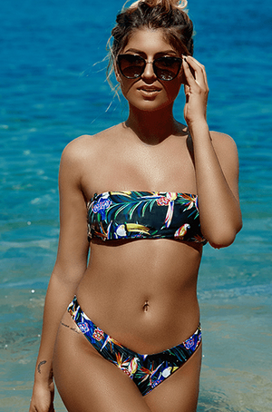 Flirty Bird Toucan Strapless Bikini