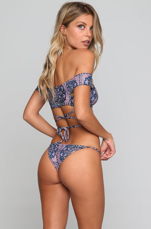 Shiloh Boho Off the Shoulder Bikini - Purple