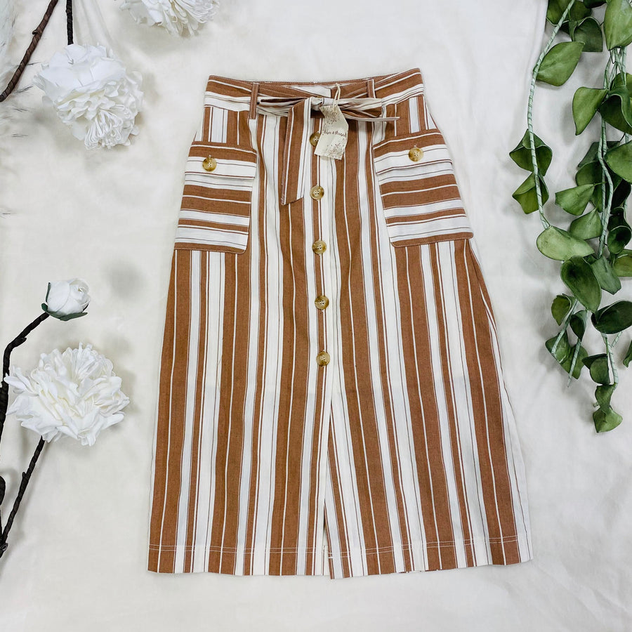 Shea Striped Skirt