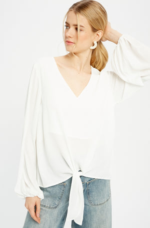 Tie Bottom Blouse