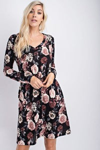 Classy Floral Tunic Dress