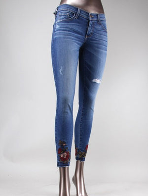 Rosey Emroidered Ankle Jean