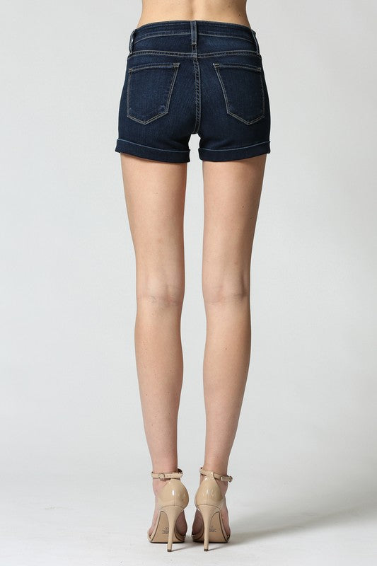 High Rise Cuffed Hem Short