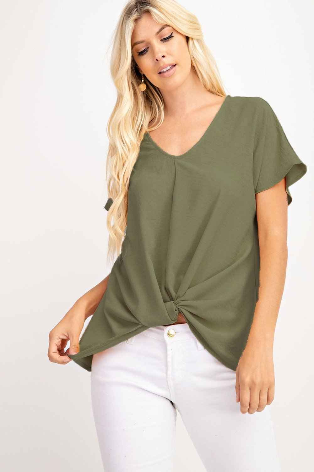 Thalia Twist Knot Top