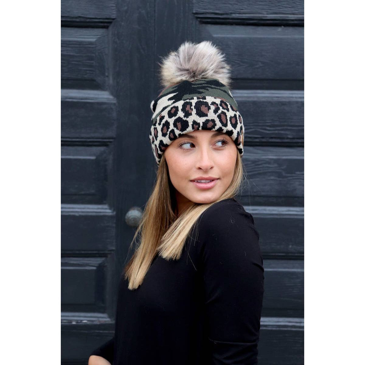 Leopard & Camo Knitted Hat