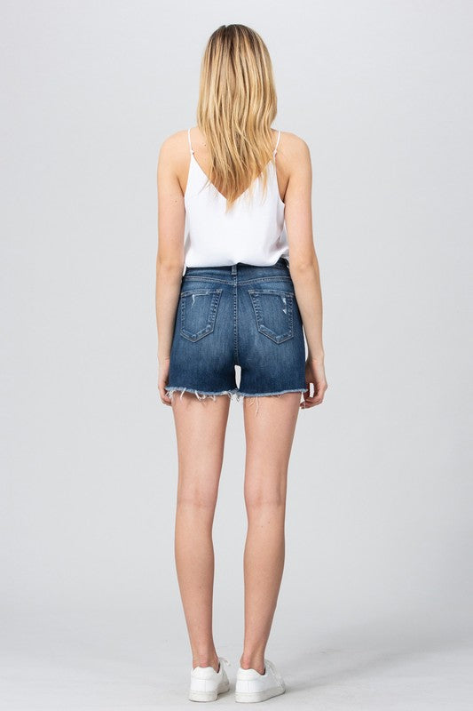 Ultra High Rise Raw Hem Short