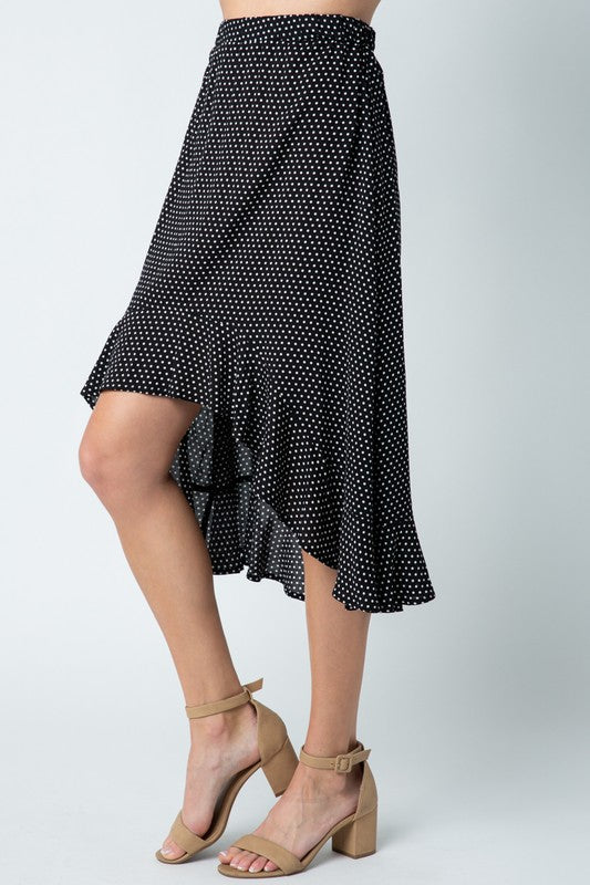 Polka Dot Hi-Lo Skirt