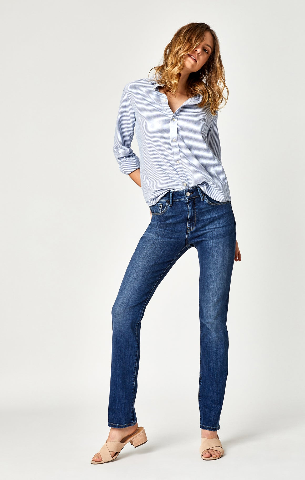 Kendra High-Rise Straight Leg Jean