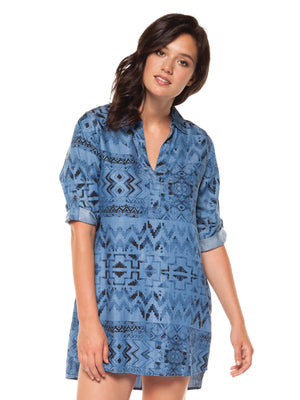 Tencel Printed Tunic with Pockets