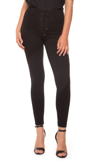 Legging with Front Lace Up