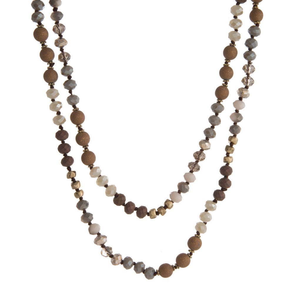 Brown Metallic Necklace