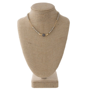 Pearl and Feceted Necklace