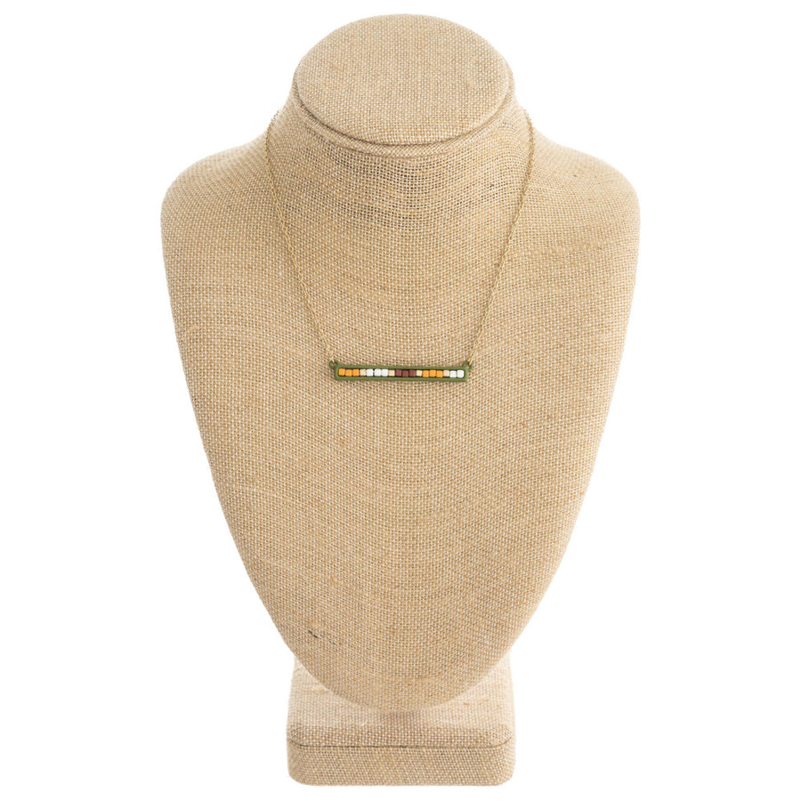 Color Block Bar Pendant Necklace