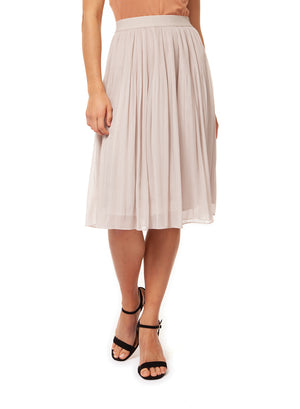 Release Pleat Midi Skirt