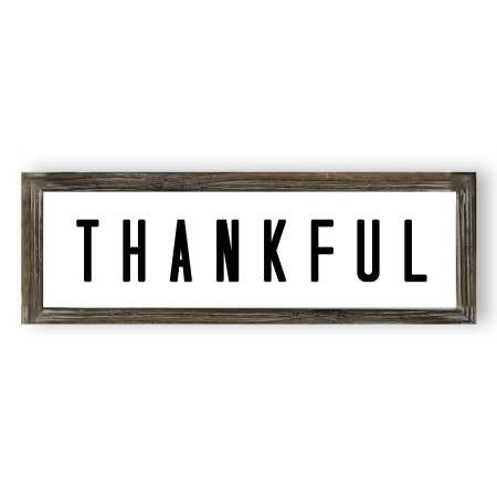 THANKFUL Wood Sign 8x24