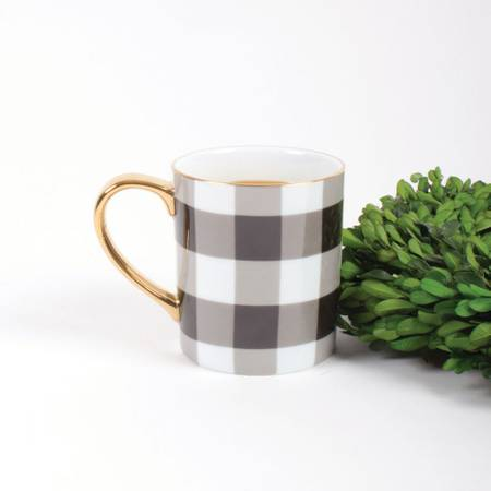 8oz Coffee Mug ( Gingham )