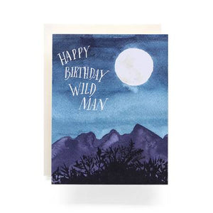 Wild Man Birthday Greeting Card