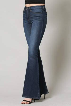 High Waist Flare Denim