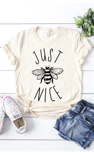 Just Bee Nice Graphic Tee