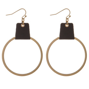 Leather/Hoop Earring