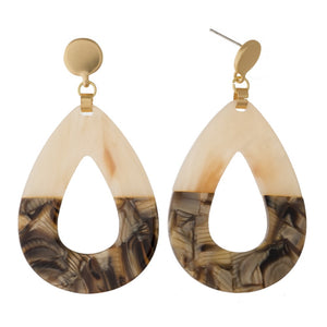Acetate Teardrop Earring