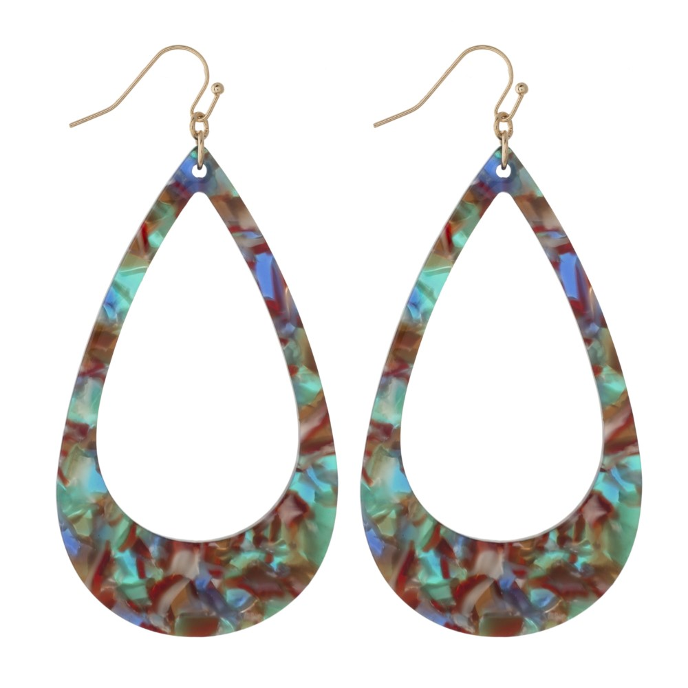 Acetate Teardrop Earrings